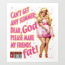 fat barbie doll art print mediacorpse 16 64 awesome
