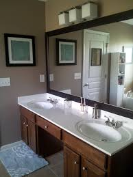 add chair rail molding to master bathroom mirror love the black