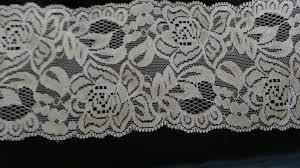 wide lace ribbon white stretch scalloped lace trim 3 1 2 inch wide s3 6