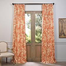 Chezmoi Collection Curtains by Half Price Drapes Edina Rust 96 X 50 Inch Printed Cotton Curtain