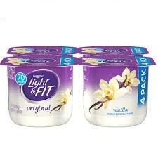 light and fit vanilla yogurt dannon light and fit original and vanilla flavored greek yogurt