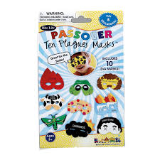 passover plague masks passover 10 plagues masks