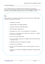 ks5 the handmaid u0027s tale by margaret atwood teachit english