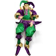 mardi gras jester costume large sitting jester mardi gras doll 48 71457