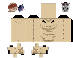 oogie boogie from the nightmare before christmas paper toy free