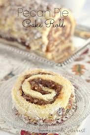 pecan pie cake roll home made interest