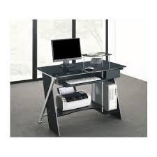 bureau informatique verre trempé bureau informatique pascal 1 tiroir verre trem achat vente