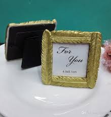 picture frame wedding favors wedding favors gold feather photo frame place card holder