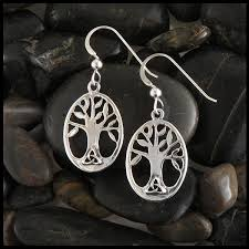 family tree earrings in sterling silver walker metalsmiths celtic