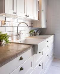 modern kitchen concrete countertops concrete countertops farmhouse sink white cabinets yes please for