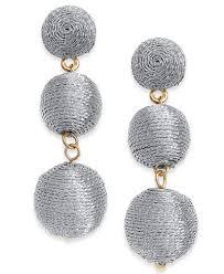 threaded earrings i n c gold tone threaded drop earrings created for macy s