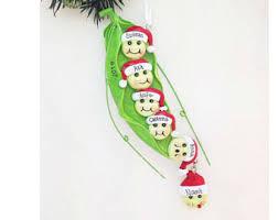 peas in a pod ornament pea ornament etsy