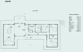 plan de maison 120m2 4 chambres plan maison 120m2 avec etage awesome maison r 1 120m2 décoration