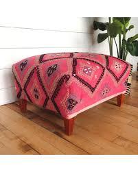 Pink Ottoman Great Deals On Kilim Ottoman Boho Ottoman Pink Ottoman Bohemian