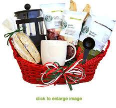 coffee gift basket starbucks italian coffee gift basket