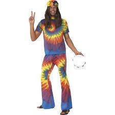 Hippie Halloween Costumes 60 U0027s 70 U0027s Tie Dye Hippie Costume Walmart
