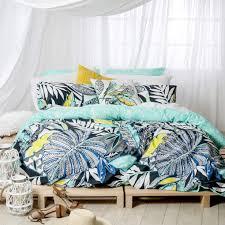 pillow talk optical quilt poly cotton blue duvet cover set king
