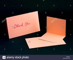 message card for your family and friends thank you stock photo