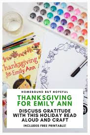 thanksgiving emily ann story u0026 printable reading aloud