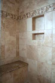 Bathroom Remodel Tile Shower Travertine Tile Shower A Bathroom With Tiles And Mosaics On The