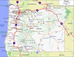 map of oregon 2 oregon pet friendly road map by 1click