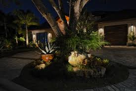 California Landscape Lighting Award Winning Pelican Bay Landscape Lighting Design Accentuates