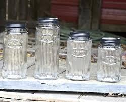 glass canisters kitchen fashionable glass kitchen canisters wonderful kitchen storage jars