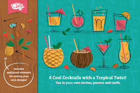 retro cocktail party cocktail party vector illustrations by wingsart thehungryjpeg com