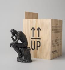 Miniature by Miniature Of The Thinker By Auguste Rodin Official Reproduction