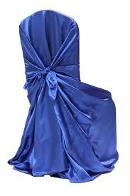 blue chair covers universal satin self tie chair cover royal blue at cv linens cv