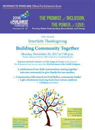 interfaith thanksgiving prayer service celebration