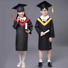 graduation gowns best quality 2017 kids clothes doctor hat graduation gowns