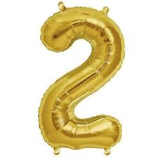 16 Shiny Gold Mylar Foil Number Helium Balloons Birthday Party  2