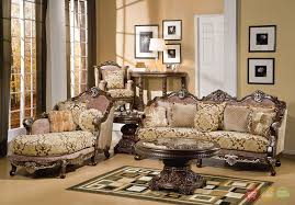 Luxurious Living Room Sets Formal Luxury Sofa Chaise Chair Traditional 3 Living Room