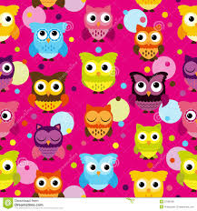 halloween owl background seamless and tileable vector owl background pattern stock photo