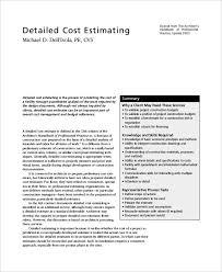 professional estimate template price quote template free