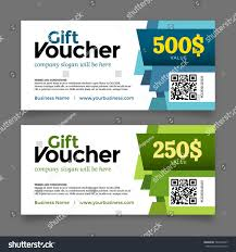 gift voucher template premium certificate coupon stock vector