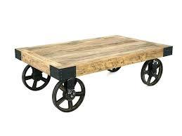 Rustic Coffee Table On Wheels Diy Coffee Table With Wheels Top Pallet Coffee Table On Wheels