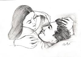 romantic couple pencil sketches drawing sketch picture