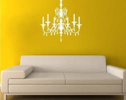 Chandelier Wall Decal Chandelier Decals Etsy