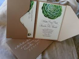 succulent wedding invitations succulent wedding invitation in kraft pouch paperblog