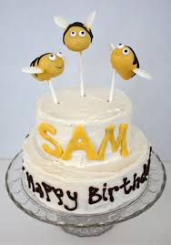 bumble bee cake toppers at second bumble bee birthday cake