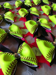cool hair bows 12 softball hair bows cool idea use background colors to match