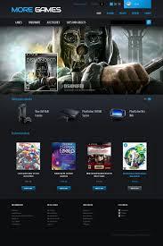 website template 42665 game portal clan custom website template