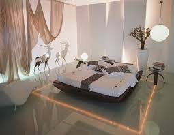 home lighting idea using led on deep tray ceiling and wall lights