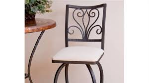 Repainting Wrought Iron Furniture by How To Refinish A Wrought Iron Bar Stool Youtube