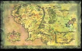 entire middle earth map map of middle earth major tourist attractions maps