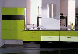 modern european green kitchen design