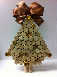 handmade trees made of wine corks
