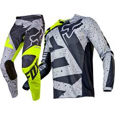 Fox Racing 2017 Mx New 180 Nirv Grey Flo Yellow Jersey Pants